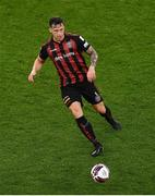 15 July 2021; Rob Cornwall of Bohemians during the UEFA Europa Conference League first qualifying round second leg match between Bohemians and Stjarnan at the Aviva Stadium in Dublin. Photo by Ben McShane/Sportsfile