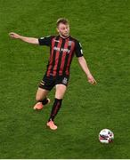 15 July 2021; Conor Levingston of Bohemians during the UEFA Europa Conference League first qualifying round second leg match between Bohemians and Stjarnan at the Aviva Stadium in Dublin. Photo by Ben McShane/Sportsfile