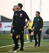 16 July 2021; Shamrock Rovers manager Stephen Bradley during the SSE Airtricity League Premier Division match between Derry City and Shamrock Rovers at the Ryan McBride Brandywell Stadium in Derry. Photo by David Fitzgerald/Sportsfile