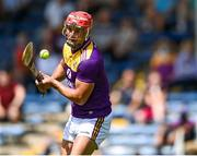 17 July 2021; Lee Chin of Wexford takes a free during the GAA Hurling All-Ireland Senior Championship Round 1 match between Clare and Wexford at Semple Stadium in Thurles, Tipperary. Photo by Piaras Ó Mídheach/Sportsfile
