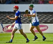 17 July 2021; Michael Kiely of Waterford protests after a dissalowed goal during the GAA Hurling All-Ireland Senior Championship Round 1 match between Laois and Waterford at UPMC Nowlan Park in Kilkenny. Photo by Harry Murphy/Sportsfile