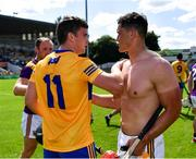 17 July 2021; Tony Kelly of Clare and Lee Chin of Wexford after the GAA Hurling All-Ireland Senior Championship Round 1 match between Clare and Wexford at Semple Stadium in Thurles, Tipperary. Photo by Piaras Ó Mídheach/Sportsfile