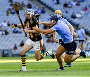 17 July 2021; TJ Reid of Kilkenny in action against Eoghan O'Donnell of Dublin during the Leinster GAA Senior Hurling Championship Final match between Dublin and Kilkenny at Croke Park in Dublin. Photo by Ray McManus/Sportsfile