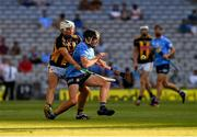 17 July 2021; Dónal Burke of Dublin is tackled by Pádraig Walsh of Kilkenny during the Leinster GAA Senior Hurling Championship Final match between Dublin and Kilkenny at Croke Park in Dublin. Photo by Ray McManus/Sportsfile