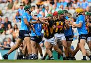 17 July 2021; Chris Crummey of Dublin and Martin Keoghan of Kilkenny get involved in an altercation during the Leinster GAA Senior Hurling Championship Final match between Dublin and Kilkenny at Croke Park in Dublin. Photo by Eóin Noonan/Sportsfile