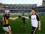 17 July 2021; Kilkenny manager Brian Cody and TJ Reid celebrate following the Leinster GAA Senior Hurling Championship Final match between Dublin and Kilkenny at Croke Park in Dublin. Photo by Stephen McCarthy/Sportsfile