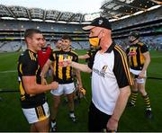 17 July 2021; Kilkenny manager Brian Cody and Alan Murphy celebrate following the Leinster GAA Senior Hurling Championship Final match between Dublin and Kilkenny at Croke Park in Dublin. Photo by Stephen McCarthy/Sportsfile