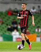 15 July 2021; Tyreke Wilson of Bohemians during the UEFA Europa Conference League first qualifying round second leg match between Bohemians and Stjarnan at the Aviva Stadium in Dublin. Photo by Harry Murphy/Sportsfile
