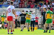 18 July 2021; Neil McGee of Donegal leaves the field after picking up an injury during the Ulster GAA Football Senior Championship Semi-Final match between Donegal and Tyrone at Brewster Park in Enniskillen, Fermanagh. Photo by Sam Barnes/Sportsfile