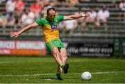 18 July 2021; Michael Murphy of Donegal takes a penalty, which subsequently hit the post, during the Ulster GAA Football Senior Championship Semi-Final match between Donegal and Tyrone at Brewster Park in Enniskillen, Fermanagh. Photo by Ben McShane/Sportsfile