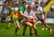 18 July 2021; Peter Harte of Tyrone in action against Eoghan Ban Gallagher of Donegal during the Ulster GAA Football Senior Championship Semi-Final match between Donegal and Tyrone at Brewster Park in Enniskillen, Fermanagh. Photo by Ben McShane/Sportsfile