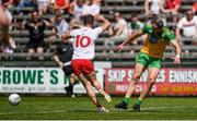18 July 2021; Michael Murphy of Donegal kicks out at Kieran McGeary of Tyrone, resulting in a red card, during the Ulster GAA Football Senior Championship Semi-Final match between Donegal and Tyrone at Brewster Park in Enniskillen, Fermanagh. Photo by Ben McShane/Sportsfile