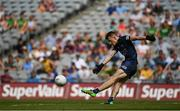 18 July 2021; Dublin goalkeeper Evan Comerford takes a kick out during the Leinster GAA Senior Football Championship Semi-Final match between Dublin and Meath at Croke Park in Dublin. Photo by Harry Murphy/Sportsfile