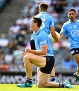 18 July 2021; Brian Fenton of Dublin celebrates after winning a penalty for his side during the Leinster GAA Senior Football Championship Semi-Final match between Dublin and Meath at Croke Park in Dublin. Photo by Eóin Noonan/Sportsfile