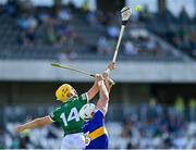 18 July 2021; Seámus Flanagan of Limerick in action against Pádraic Maher of Tipperary during the Munster GAA Hurling Senior Championship Final match between Limerick and Tipperary at Páirc Uí Chaoimh in Cork. Photo by Piaras Ó Mídheach/Sportsfile