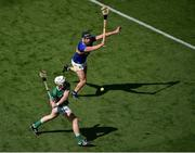 18 July 2021; Cian Lynch of Limerick in action against Dan McCormack of Tipperary during the Munster GAA Hurling Senior Championship Final match between Limerick and Tipperary at Páirc Uí Chaoimh in Cork. Photo by Daire Brennan/Sportsfile