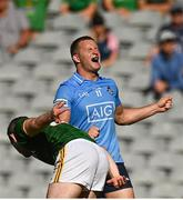 18 July 2021; Ciaran Kilkenny of Dublin reacts to kicking a wide during the Leinster GAA Senior Football Championship Semi-Final match between Dublin and Meath at Croke Park in Dublin. Photo by Harry Murphy/Sportsfile