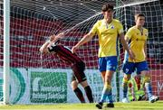 18 July 2021; Georgie Kelly of Bohemians reacts to a missed chance during the SSE Airtricity League Premier Division match between Bohemians and Longford Town at Dalymount Park in Dublin. Photo by Michael P Ryan/Sportsfile