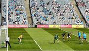 18 July 2021; Con O'Callaghan of Dublin shoots to score his side's second goal during the Leinster GAA Senior Football Championship Semi-Final match between Dublin and Meath at Croke Park in Dublin. Photo by Eóin Noonan/Sportsfile