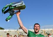 18 July 2021; Limerick captain Declan Hannon celebrates with the cup after the Munster GAA Hurling Senior Championship Final match between Limerick and Tipperary at Páirc Uí Chaoimh in Cork. Photo by Piaras Ó Mídheach/Sportsfile