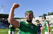 18 July 2021; Seán Finn of Limerick celebrates after his side's victory in the Munster GAA Hurling Senior Championship Final match between Limerick and Tipperary at Páirc Uí Chaoimh in Cork. Photo by Piaras Ó Mídheach/Sportsfile