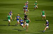 18 July 2021; Gearoid Hegarty of Limerick and Noel McGrath of Tipperary and players from both sides keep an eye on the sliotar during the Munster GAA Hurling Senior Championship Final match between Limerick and Tipperary at Páirc Uí Chaoimh in Cork. Photo by Ray McManus/Sportsfile