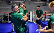 22 June 2021; Coach John Conlan and high performance director Bernard Dunne during a Tokyo 2020 Team Ireland Announcement for Boxing in the Sport Ireland Institute at the Sport Ireland Campus in Dublin.  Photo by Brendan Moran/Sportsfile