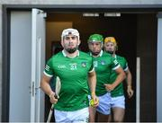 18 July 2021; Aaron Gillane of Limerick makes his way to the pitch with his team-mates before the Munster GAA Hurling Senior Championship Final match between Limerick and Tipperary at Páirc Uí Chaoimh in Cork. Photo by Piaras Ó Mídheach/Sportsfile