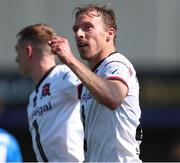 17 July 2021; David McMillan of Dundalk celebrates after scoring his side's first goal during the SSE Airtricity League Premier Division match between Dundalk and Finn Harps at Oriel Park in Dundalk, Louth. Photo by Michael P Ryan/Sportsfile
