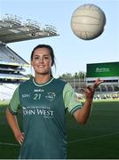 20 July 2021; John West Féile Ambassador and Armagh Footballer Aimee Mackin in attendance at the launch of John West Féile, 2021 at Croke Park in Dublin. The 2021 John West Féile na nGael hurling and camogie events will take place across individual counties on August 21, whilst The Féile na nÓg football events will take place on August 28. Under-15 teams will compete for the opportunity to play at Croke Park and Semple Stadium. Photo by Sam Barnes/Sportsfile