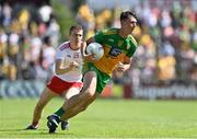 18 July 2021; Michael Langan of Donegal in action against Ben McDonnell of Tyrone during the Ulster GAA Football Senior Championship Semi-Final match between Donegal and Tyrone at Brewster Park in Enniskillen, Fermanagh. Photo by Sam Barnes/Sportsfile