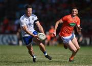 17 July 2021; Dessie Ward of Monaghan in action against Connaire Mackin of Armagh during the Ulster GAA Football Senior Championship Semi-Final match between Armagh and Monaghan at Páirc Esler in Newry, Down. Photo by Sam Barnes/Sportsfile
