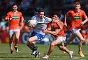 17 July 2021; Conor McManus of Monaghan in action against James Morgan of Armagh during the Ulster GAA Football Senior Championship Semi-Final match between Armagh and Monaghan at Páirc Esler in Newry, Down. Photo by Sam Barnes/Sportsfile