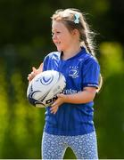 20 July 2021; Maisie Healy, age 6, in action during the Bank of Ireland Leinster Rugby Summer Camp at Balbriggan RFC in Dublin. Photo by Matt Browne/Sportsfile