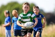 20 July 2021; Harry Quinn, age 6, in action during the Bank of Ireland Leinster Rugby Summer Camp at Balbriggan RFC in Dublin. Photo by Matt Browne/Sportsfile