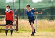 20 July 2021; Max Hodnett, age 12, in action during the Bank of Ireland Leinster Rugby Summer Camp at Balbriggan RFC in Dublin. Photo by Matt Browne/Sportsfile
