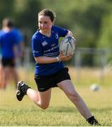 20 July 2021; Emily Byrne, age 11, in action during the Bank of Ireland Leinster Rugby Summer Camp at Balbriggan RFC in Dublin. Photo by Matt Browne/Sportsfile