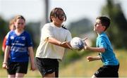 20 July 2021; Amelia Le Sclotour, age 11, in action during the Bank of Ireland Leinster Rugby Summer Camp at Balbriggan RFC in Dublin. Photo by Matt Browne/Sportsfile