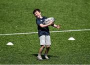 20 July 2021; Luke Jackson at the Bank of Ireland Leinster Rugby Summer Camp at Energia Park in Dublin. Photo by Daire Brennan/Sportsfile