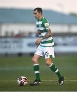 24 May 2021; Sean Kavanagh of Shamrock Rovers during the SSE Airtricity League Premier Division match between Derry City and St Patrick's Athletic at Ryan McBride Brandywell Stadium in Derry. Photo by David Fitzgerald/Sportsfile