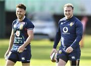20 July 2021; Ali Price, left, and Stuart Hogg of The British & Irish Lions during Squad Training at Hermanus High School in Western Cape, South Africa. Photo by Ashley Vlotman/Sportsfile