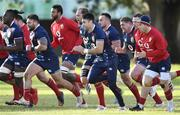 20 July 2021; Conor Murray, centre, of The British & Irish Lions during Squad Training at Hermanus High School in Western Cape, South Africa. Photo by Ashley Vlotman/Sportsfile