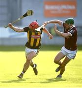 20 July 2021; Jack Morrissey of Kilkenny in action against Evan Duggan of Galway during the Leinster GAA Hurling U20 Championship semi-final match between Kilkenny and Galway at Bord Na Mona O'Connor Park in Tullamore, Offaly. Photo by David Fitzgerald/Sportsfile