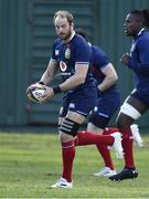 20 July 2021; Alun Wyn Jones, left, and Maro Itoje of British & Irish Lions during Squad Training at Hermanus High School in Western Cape, South Africa. Photo by Ashley Vlotman/Sportsfile