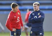 20 July 2021; Owen Farrell, left, and Stuart Hogg of The British & Irish Lions during Squad Training at Hermanus High School in Western Cape, South Africa. Photo by Ashley Vlotman/Sportsfile