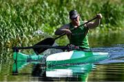 21 July 2021; Paracanoe Athlete Patrick O'Leary during a training session at Celbridge Paddlers in Celbridge in Kildare. Photo by Sam Barnes/Sportsfile