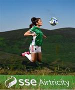 21 July 2021; SSE Airtricity launches A Common Goal programme to support sustainability efforts of football clubs across Ireland alongside David Cawley of Sligo Rovers, Sarah McKevitt of Cork City WFC and Tadhg Ryan of Treaty United. Sarah McKevitt of Cork City WFC pictured at the launch of SSE Airtricity's A Common Goal sustainability initiative to help build a more environmentally sustainable football community by uniting clubs, players, and fans. #ACommonGoal. Photo by David Fitzgerald/Sportsfile