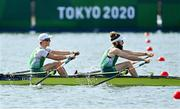 21 July 2021; Team Ireland Men's Lightweight Double Sculls rowers Fintan McCarthy, left, and Paul O'Donovan training at the Sea Forest Waterway ahead of the start of the 2020 Tokyo Summer Olympic Games in Tokyo, Japan. Photo by Brendan Moran/Sportsfile