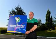 21 July 2021; Irish senior international head coach Mark Keenan at the National Basketball Arena for the announcement of senior Irish men's squad ahead of the FIBA European Championship for Small Countries at the National Basketball Arena, Dublin. Photo by Eóin Noonan/Sportsfile