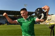 18 July 2021; Gearoid Hegarty of Limerick celebrates after the Munster GAA Hurling Senior Championship Final match between Limerick and Tipperary at Páirc Uí Chaoimh in Cork. Photo by Ray McManus/Sportsfile